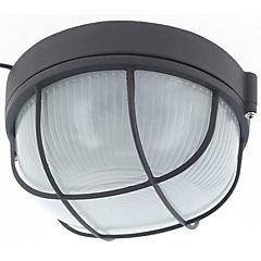 Tortuga redonda rejilla negro aluminio