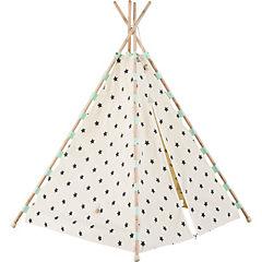 Carpa tipi algodón estrella turquesa 160x115x115 cm