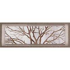 Cuadro enmarcado 93x33 cm copa árbol