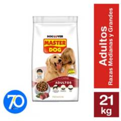 MASTER DOG - Alimento seco para perro adulto Carne 21 kg