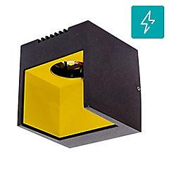 Aplique led square luz calida 2w gris