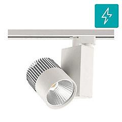 Foco led para riel monofasico 30w luz calida