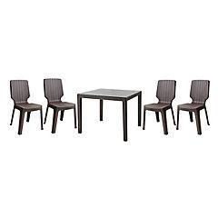 Set mesa cuadrada + 4 sillas