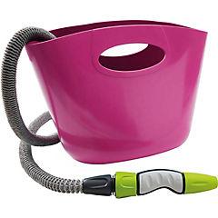 Set manguera 15m+bolso Aquapop rosado