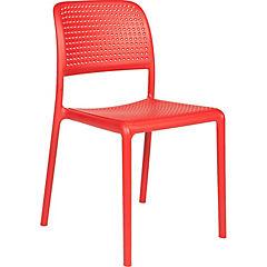 Set 2 sillas Bora bistrot rojo