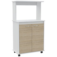 Mueble de cocina 63x36x114 cm blanco/oak