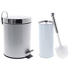 Papelero metal 5 litros con escobilla