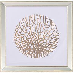 Cuadro Coral dorado 50x50 cm