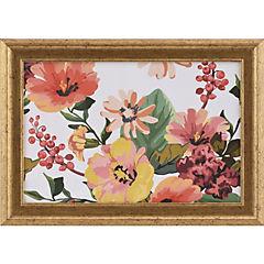 Cuadro flores rosa 35x25 cm