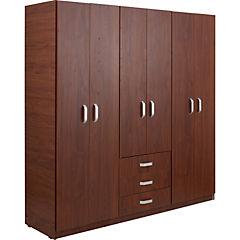 Closet 6 puertas 3 cajones 180x50x180 cm cedro