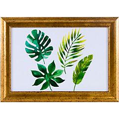 Cuadro hojas surtidas 35x25 cm