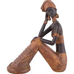 Africana sentada ocre 27 cm