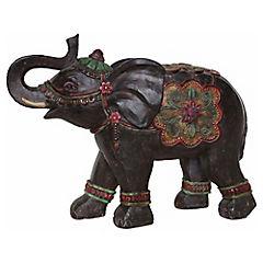 Elefante etnico negro 36 cm