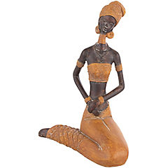Africana manos juntas ocre 28 cm