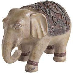 Elefante etnico beige 19 cm