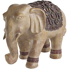 Elefante etnico beige 28 cm