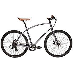 Bicicleta Hibrida Aro 28 gris 8 velocidades, talla S