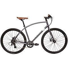 Bicicleta Hibrida Aro 28 gris 8 velocidades, talla M