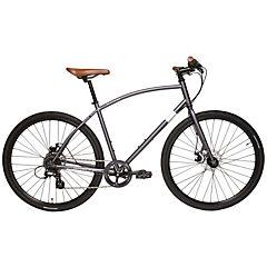 Bicicleta Hibrida Aro 28 gris 8 velocidades, talla L