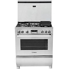 Cocina a gas 5 quemadores 78 litros inox