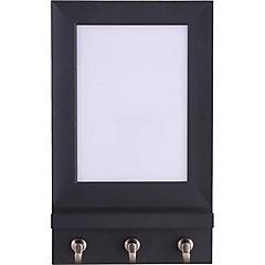 Porta llaves pizarra 17,7 cm plástico Negro