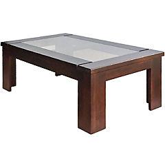 Mesa de centro 60x100x38 cm madera chocolate