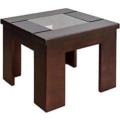 Mesa lateral 45x45x38 cm madera chocolate