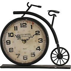 Reloj de mesa 23x22 cm Blanco-negro