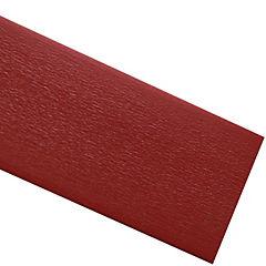 Tapacanto PVC encolado rojo 10 m