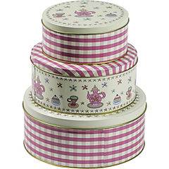 Set de 3 latas para galletas Pink Tea