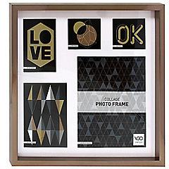 Marco 40x40 cm Metalizado Collage Cobre