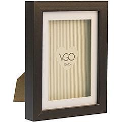 Marco 15x20 cm Box Con Profundidad Café