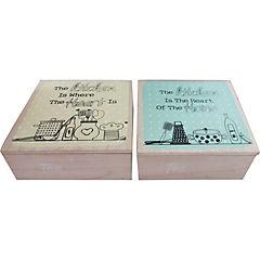 Caja para  té madera 18x18x7 cm no web