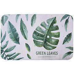 Alfombra de baño 45x75 cm hojas verde
