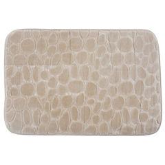 Alfombra de baño 45x70 cm beige piedra
