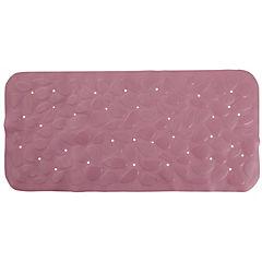 Alfombra de baño PVC 75x36 cm rosada bañera piedras