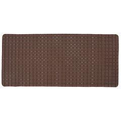 Alfombra de baño PVC 78x35 cm marrón baño cuadrados