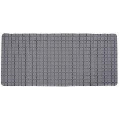 Alfombra de baño PVC 78x35 cm gris baño cuadrados