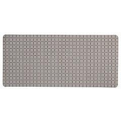 Alfombra de baño PVC 78x35 cm beige baño cuadrados