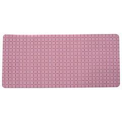 Alfombra de baño PVC 78x35 cm rosada baño cuadrados