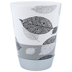 Vaso para enjuague bucal diseño hojas negras