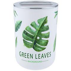 Vaso organizador de cepillo dental diseño hojas verdes