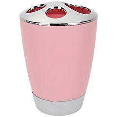 Vaso organizador de cepillo dental rosa