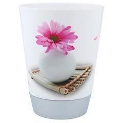 Vaso para enjuague bucal diseño flor y piedra