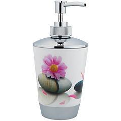 Dispensador de jabón diseño flor y piedra