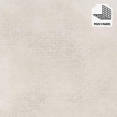 Porcelanato 60x60 textil blanco mt 1.44