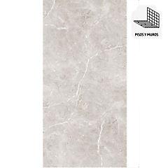 Porcelanato 60x120 taupe mármol brillante 1,44 m2