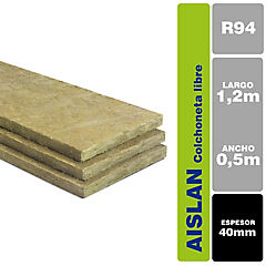 40 mm 0.5x1.20 m Aislan lana mineral sin revestimiento