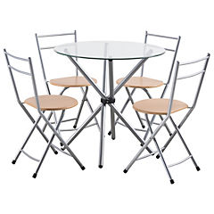 Juego de comedor 4 sillas 75x80x80 cms