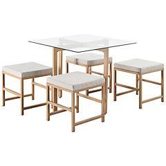Juego de comedor 4 sillas 75x90x90 cms